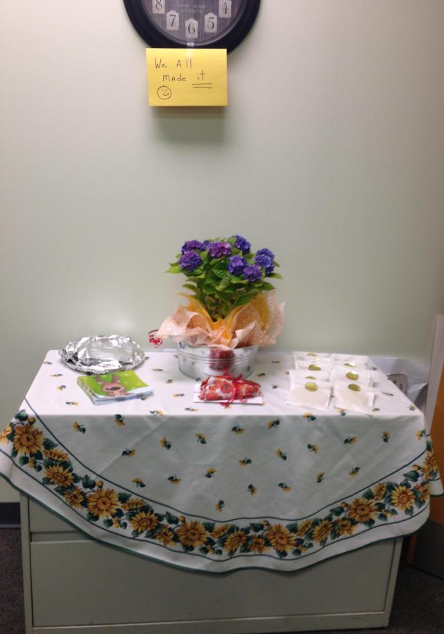 Classroom celebration