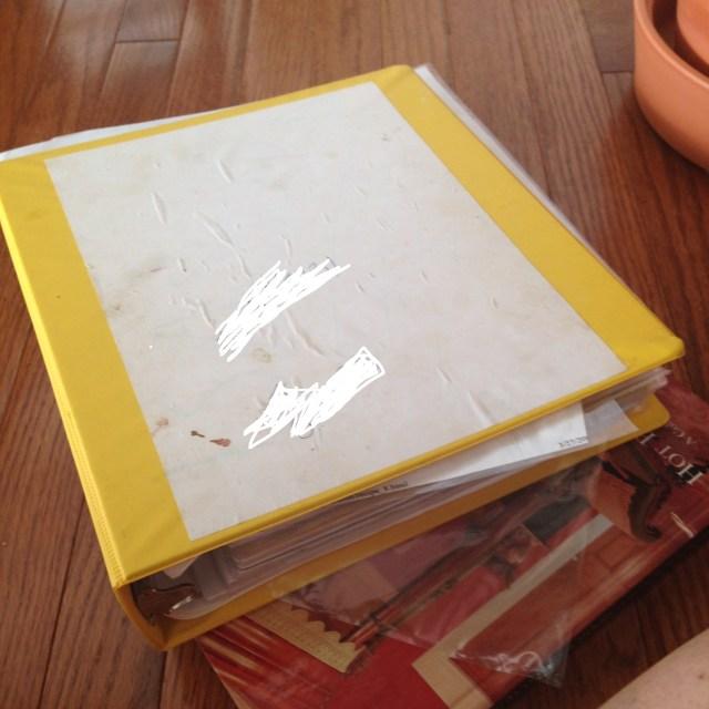 My sloppy binder