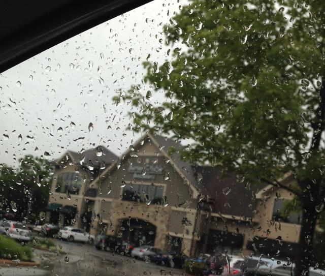 Barnes and noble in the rain