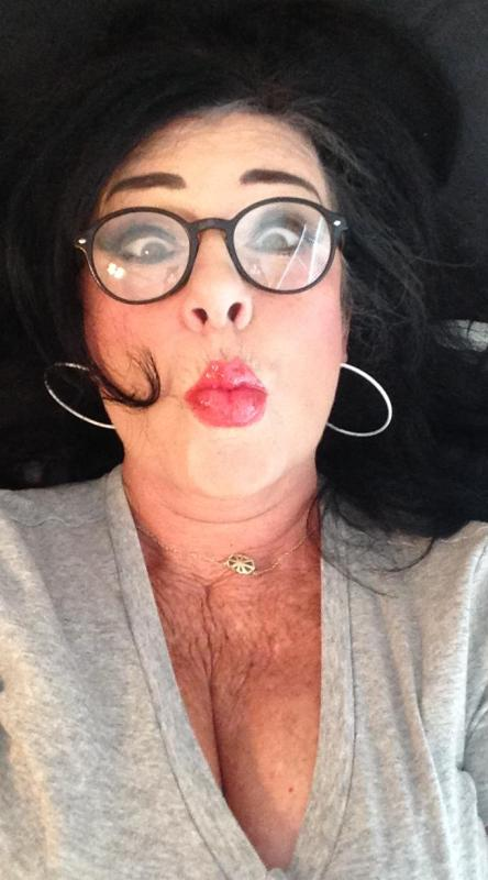 My Kardashian selfie. My push up bra needs to be more pushed up! The mouth looks filled though!