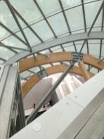 Paris. Fondation LV. View from escalator.