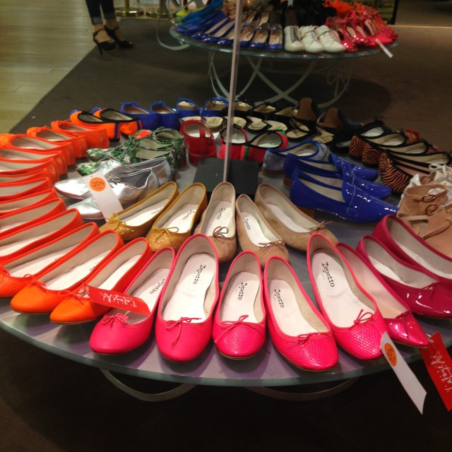 Paris. Galeries Lafayette. Repetto Display. My kind of place