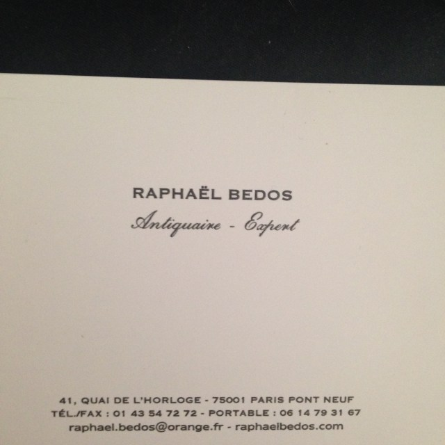 Shopping. Raphael Bedos Business Card.