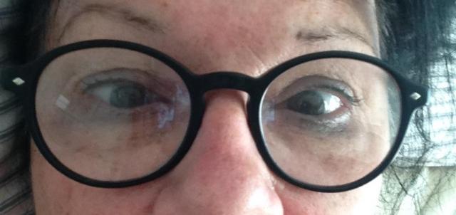 crossed eyed and flighy makeup