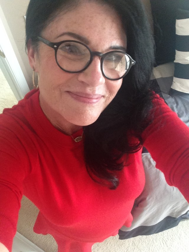 Me. Red tippi. Red J. Crew Skirt Red slut shoes. Im ready for my visit to Hell!