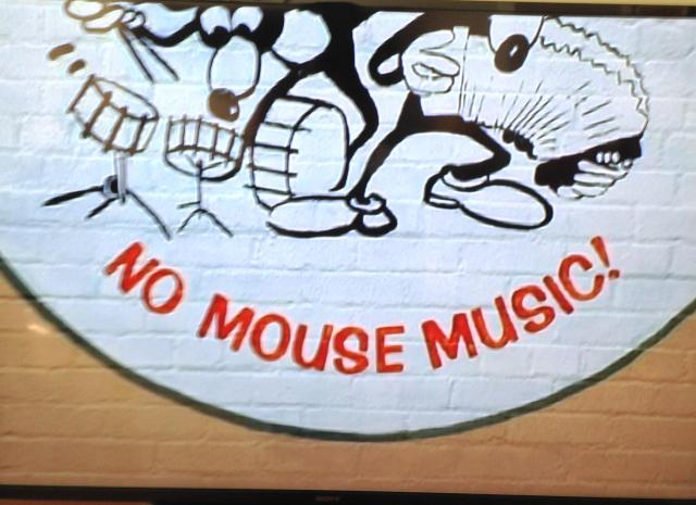 No Mouse Music wall at Althooie records