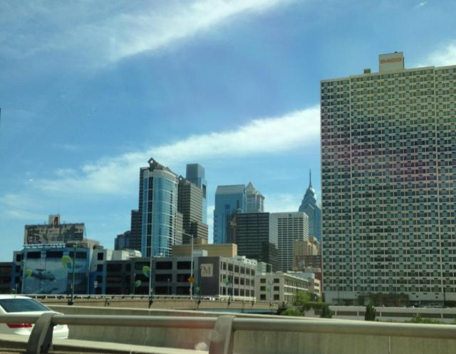 Sunday. Phila skyline