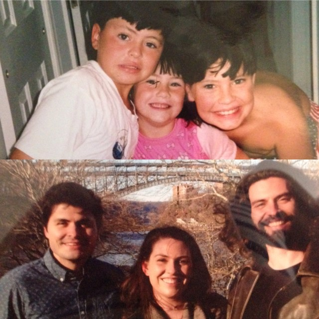 Then and now. They grew up to be wonderful adults!