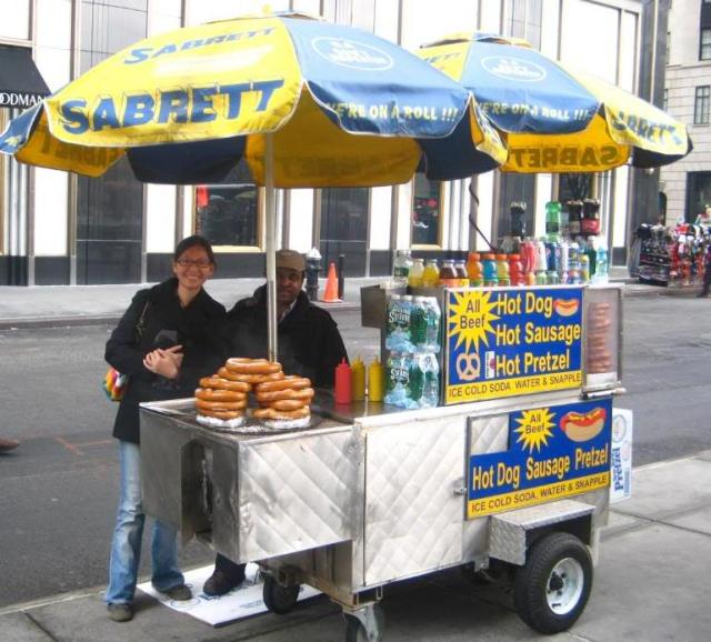sabrett hot dog cart