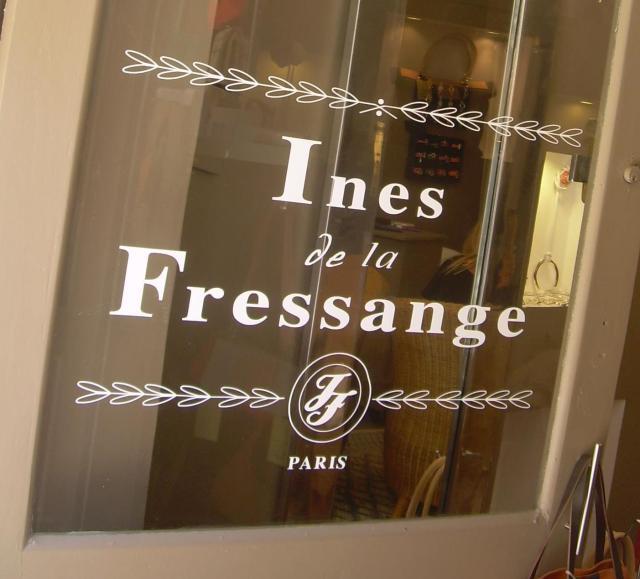 t.St. Trop. Signs Ines de la Fressange's shop
