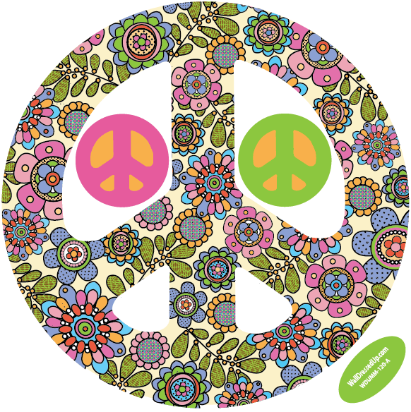 groovy-peace-sign-decal-flowers