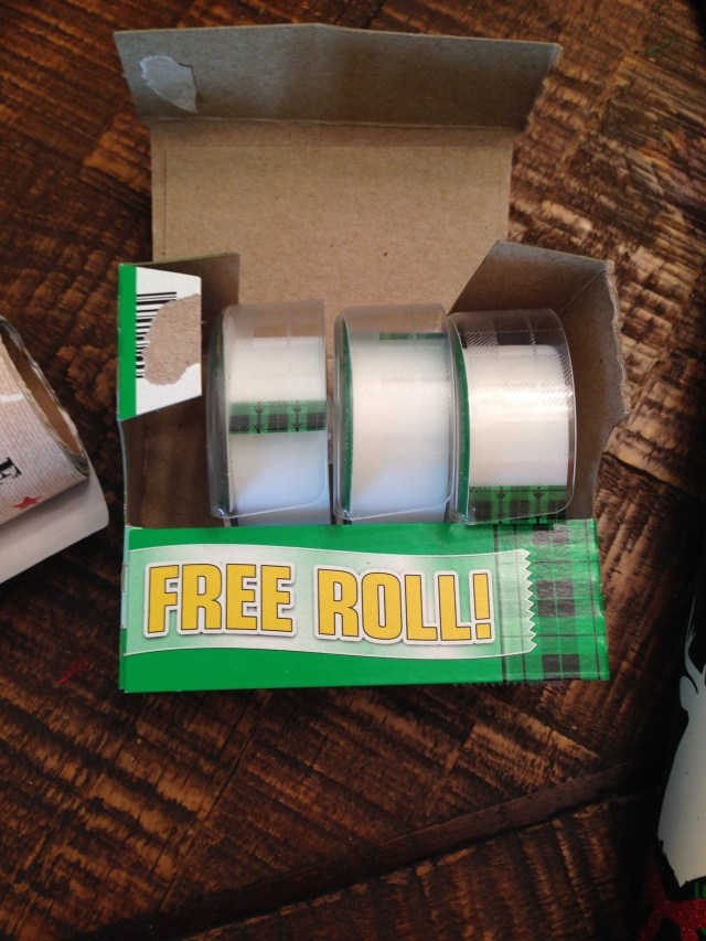 Tape--free roll my ass