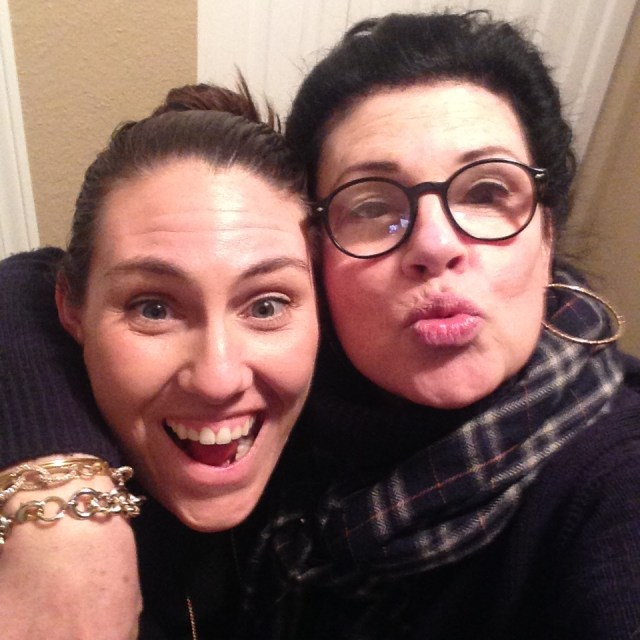Me and Oona goofing around.