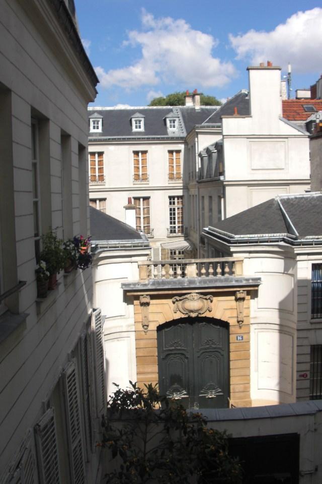 Paris Rue Seguier view from window 2