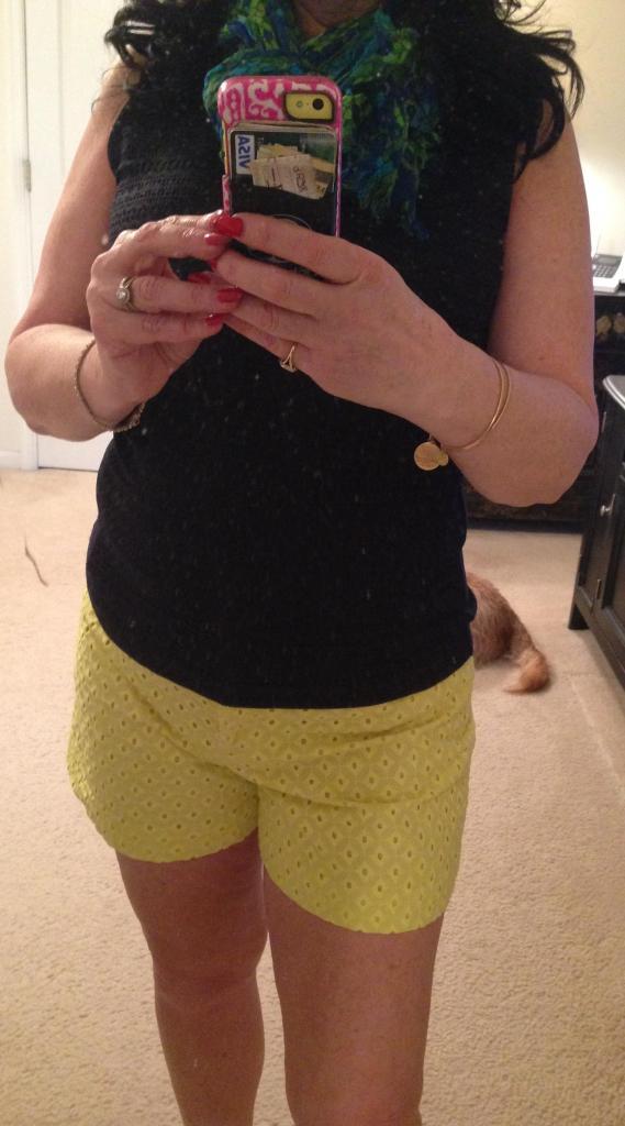 yellow shorts 2