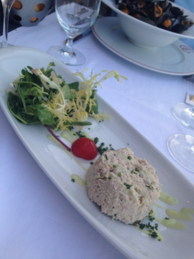 Cannes. Gaston. My appetizer. Crab with wasabi. Unbelievable.