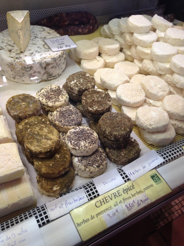 Cannes. Marche Forville. Goat cheese. Yes. We did.