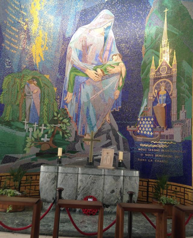 Draguignan. Makeshift chapel of sorts GOLD