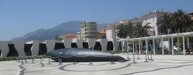 Menton. Outside of the musee jean cocteau