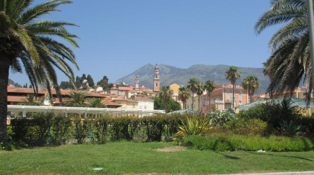 Menton. View from the car.