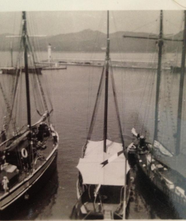 St. Tropez 1945. Boats in the little harbor. Before the Yachts came