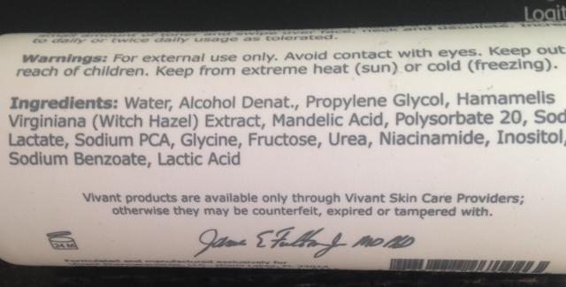 Toner ingredients