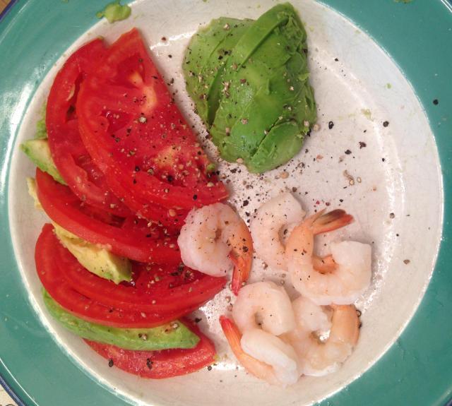 Tomato Avacado and Shrimp
