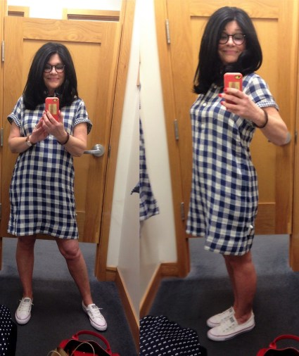 Image result for atypical60 checked dress j crew factory