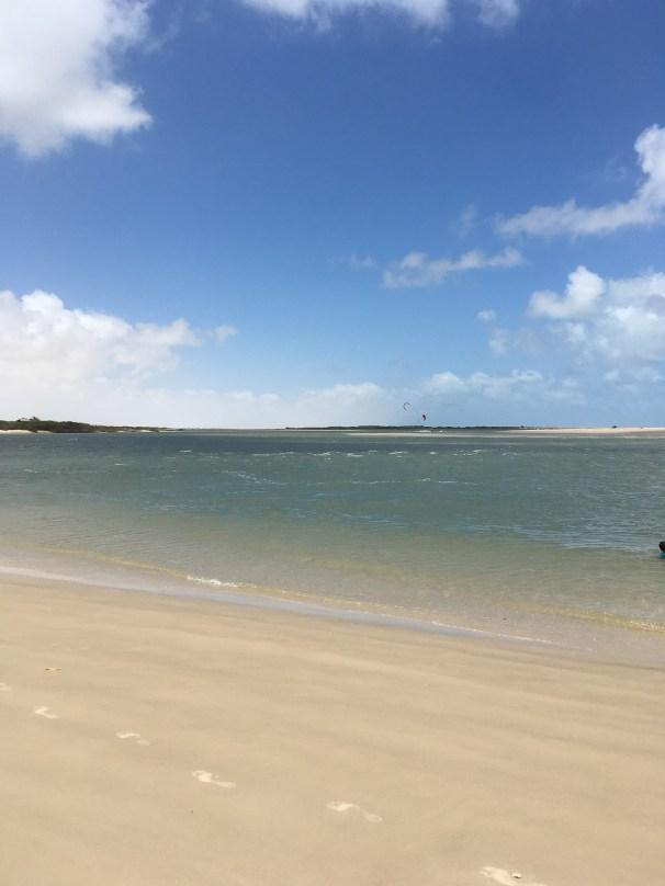kiteboarding and downwinding in Brazil
