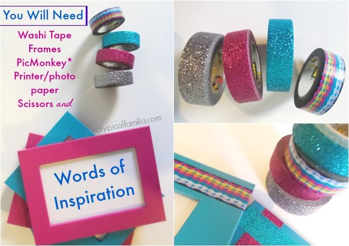 DIY Inspiration Frames Supplies
