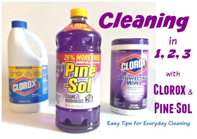 Clean in layers with Clorox and Pinesol - Atypical Familia