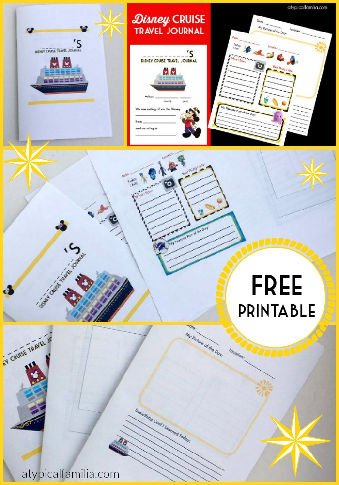 PINTEREST Disney Cruise Travel Journal for Kids FREE Printable