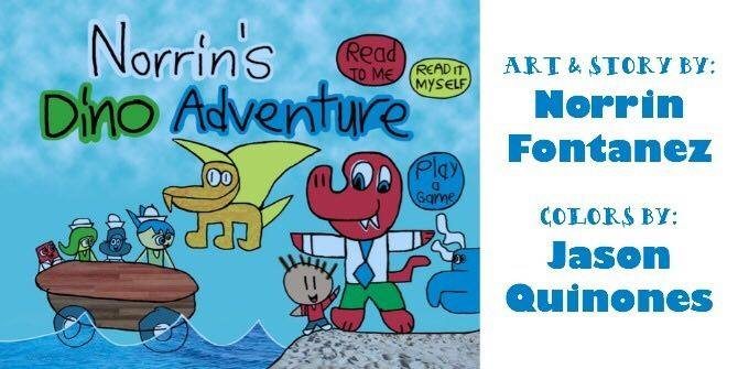 A Dino Adventure Art & Story by Norrin Fontanez