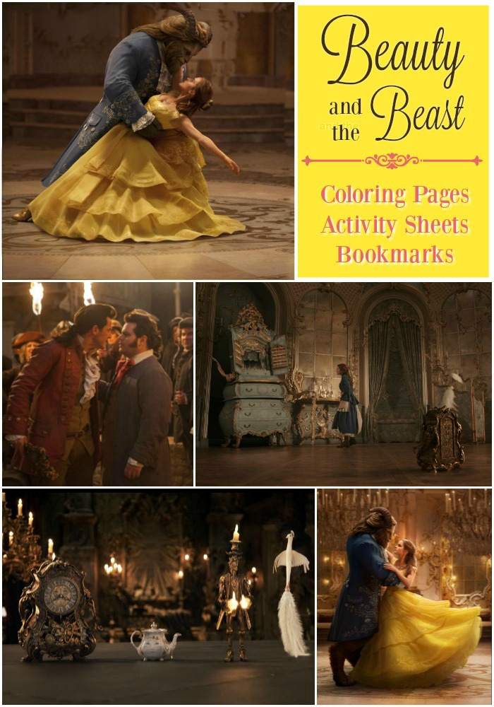 Beauty and the Beast Coloring Pages Activity Sheet and Bookmark FREE PRINTABLE