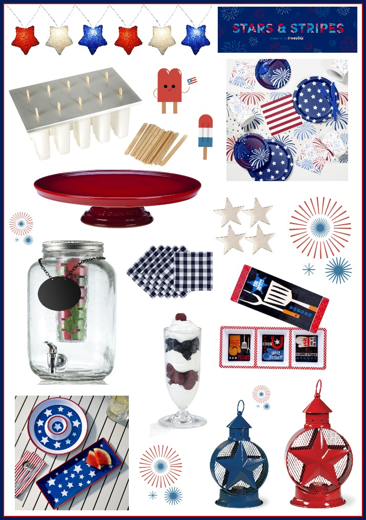 Wayfair Stars and Stripes 4th of July Party Items Ideas