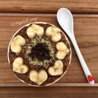 Mocha & Banana 'Superfoods' Overnight Oats - change the way you eat to feel better!