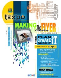 """2012 TEXPO """"Making the Flyer"""" competition flyer"""