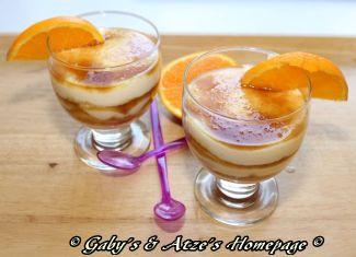 Orangen-Joghrut Dessert