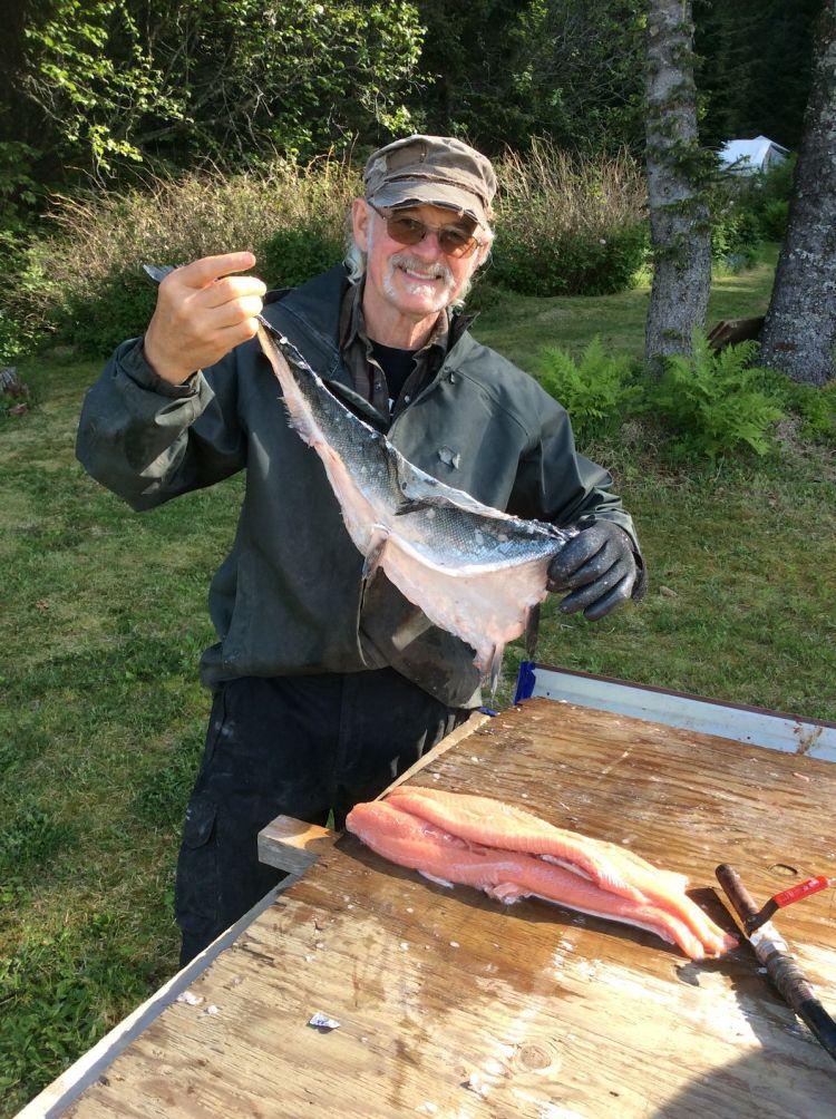 salmon fish skin leather