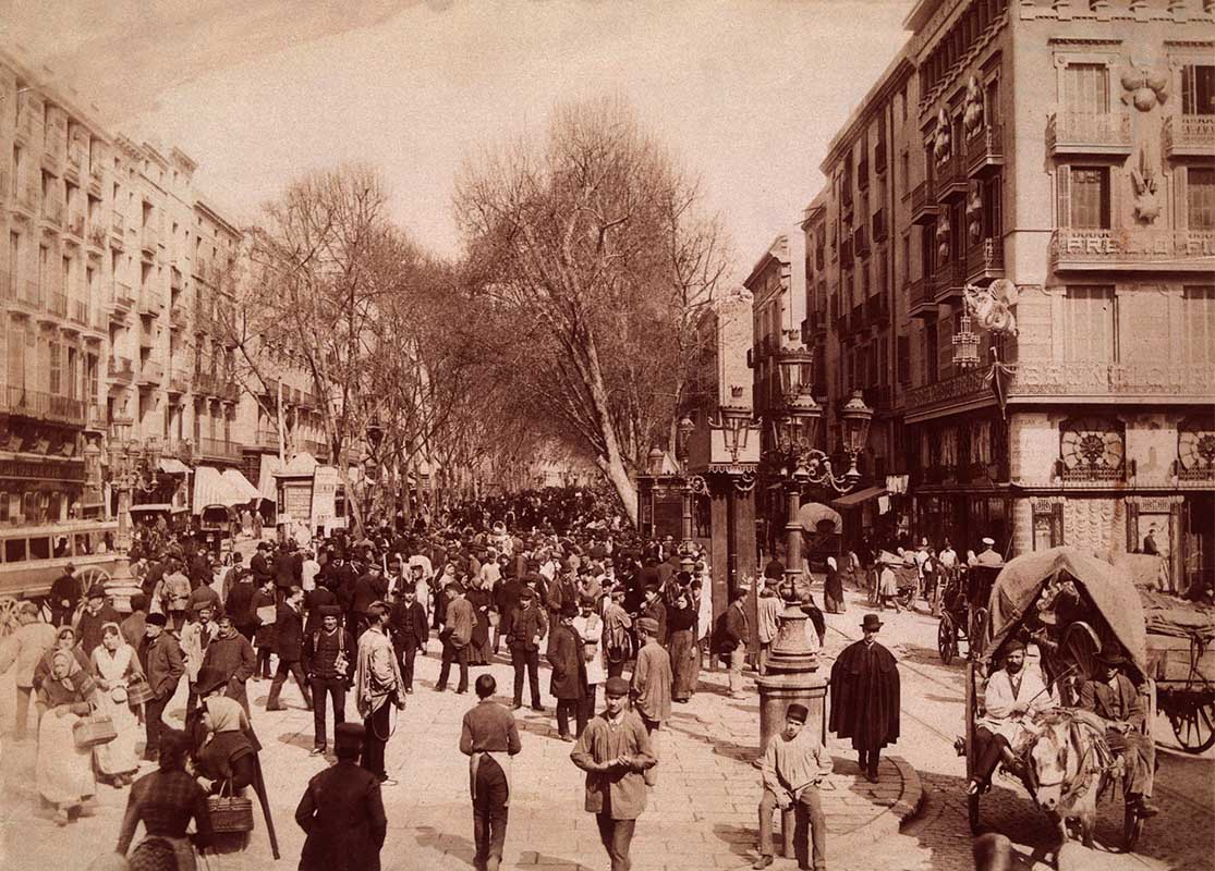 La Rambla de Barcelona, any 1900