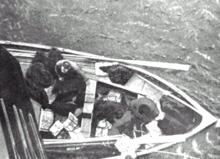 Le canot de Lucy Duff Gordon, qui fut le moins rempli avec seulement 12 personnes