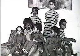 L'épouse de Malcolm X et ses enfants