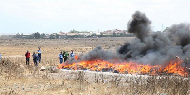 Grosse quantité de drogue détruite à Tanger: les détails