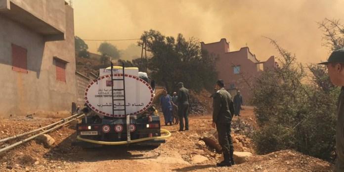 Terrible incendie à Chtouka-Ait Baha, deux canadairs interviennent (PHOTOS)