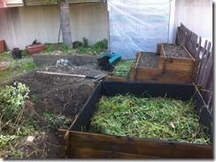 remplissage de carré avec des mauvaises herbes