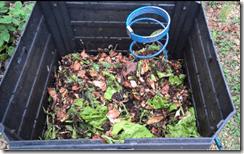 intérieur du compost
