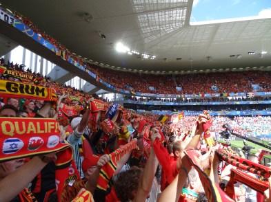fans belges au stade de de bordeaux