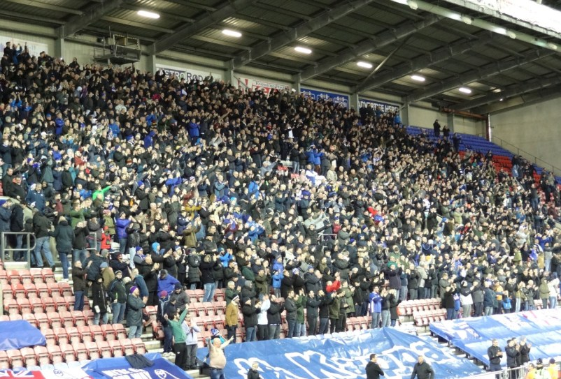 fans de sheffield à wigan