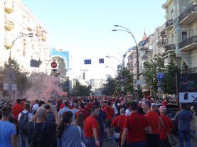 départ au stade pour finale de ldc à kiev