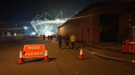 road closed vers st mary's stadium
